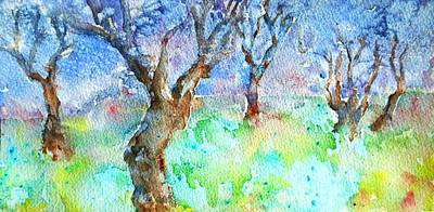 Painting - Sunlight And Shadows In The Olive Grove, by Trudi Doyle