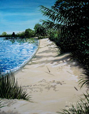 Painting - Shadows In The Sand by Elizabeth Robinette Tyndall