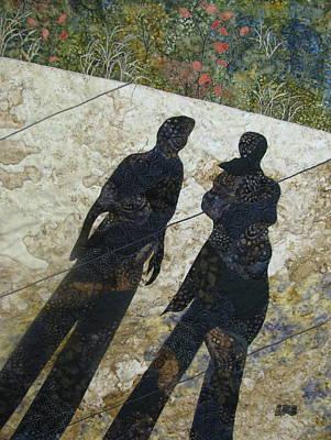 Lynda Boardman Art Tapestry - Textile - Shadows by Lynda K Boardman