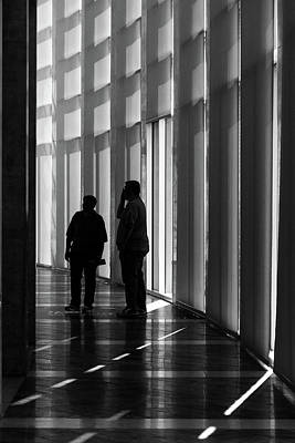 Photograph - Shadows Of Crystal Bridges by Steven Bateson