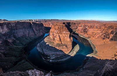 Photograph - Shadows Of Horseshoe Bend Page, Arizona by Art Atkins