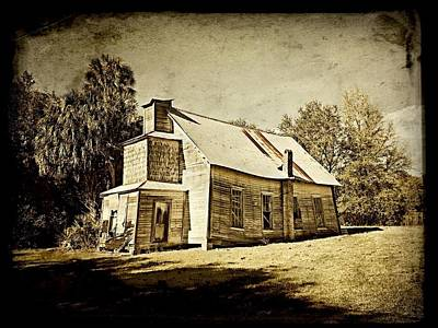 Giuseppe Cristiano Royalty Free Images - Shadows of Island Grove in Sepia Royalty-Free Image by Jack Cushman