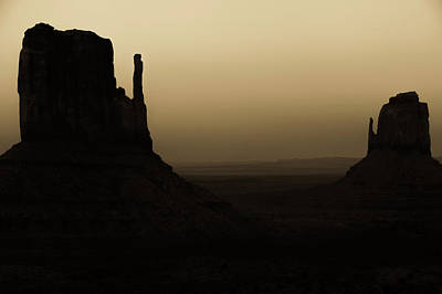 Photograph - Shadows Of Monument Valley - Sepia Tones by Gregory Ballos