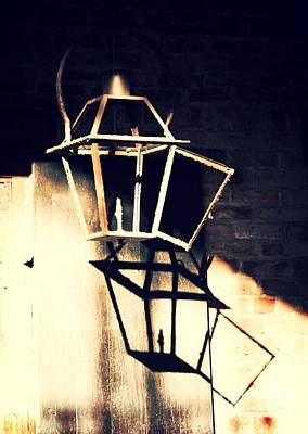 Photograph - Shadows Of New Orleans - Lamp by Carol Groenen