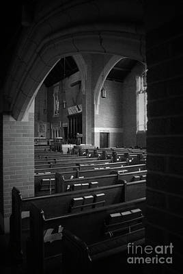 Augustana Photograph - Shadows Of The Empty Pews by Jost Houk