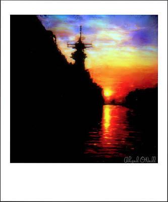 Creative Manipulation Photograph - Uss Wisconsin - Shadows # 1 by Abigail O'Neill