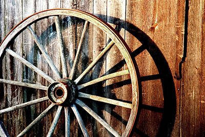 Wagon Wheels Photograph - Shadows Of The Past by Greg Fortier