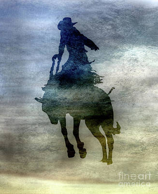 Digital Art - Shadows Of The Rodeo Two by Randy Steele