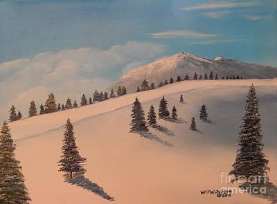 Snowscape Painting - Shadows Of Winter by William McCutcheon