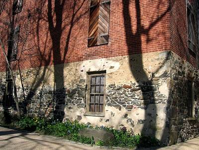 Art Print featuring the photograph Shadows On A Brandywine Wall by Don Struke