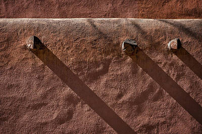 Photograph - Shadows On A Wall - Santa Fe by Stuart Litoff