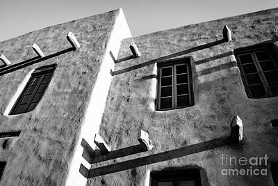 Photograph - Shadows On Adobe In Santa Fe by Jeffrey Hubbard
