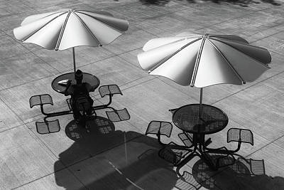 Photograph - Shadows On Campus by Monte Stevens