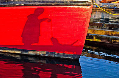 Photograph - Shadows On Red by Cathy Mahnke