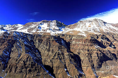 Photograph - Shadows On The Andes At Valle Nevado by John Rizzuto