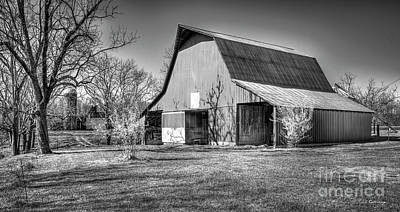 Shadows On The Wall Tennessee Barn Art Art Print by Reid Callaway
