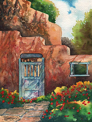 Taos Painting - Shadows On The Wall by Timithy L Gordon