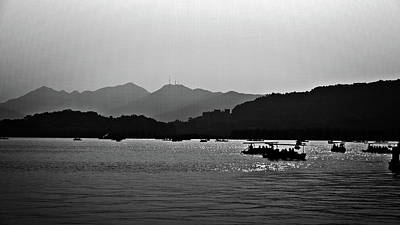 Photograph - Shadows On West Lake by George Taylor