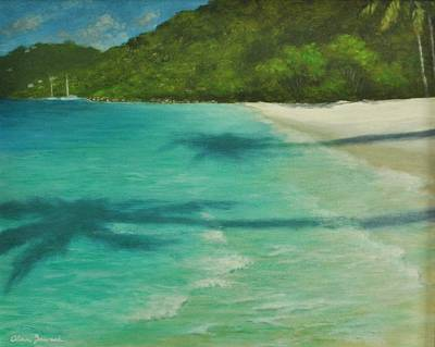 Painting - Shadows Over Magens Bay By Alan Zawacki by Alan Zawacki
