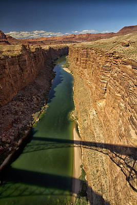 Photograph - Shadows Over Marble Canyon by Tom Kelly