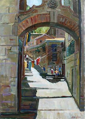 Painting - Shadows The Old Town by Juliya Zhukova
