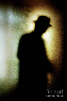 Photograph - Shadowy Man With Hat by Clayton Bastiani