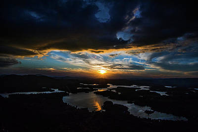 Photograph - Shadowy Sunset by Mike Dunn