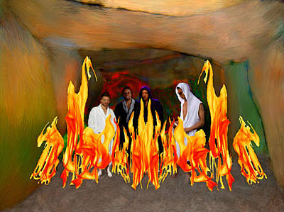 Ending Life Painting - Shadrach Meshach And Abednego  by Bruce Nutting