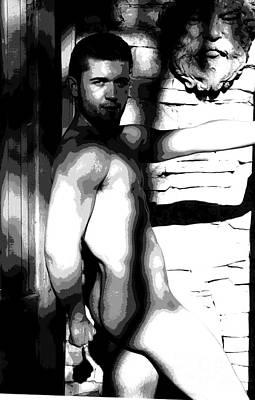 Digital Art - Shady Character by Robert D McBain