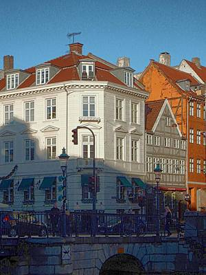 Photograph - Shady Corner At Nyhavn by Dorothy Berry-Lound