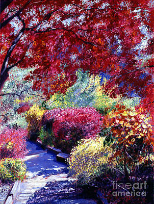 Pathway Painting - Shady Garden Path by David Lloyd Glover