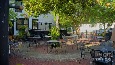 Photograph - Shady Outdoor Dining by Ules Barnwell