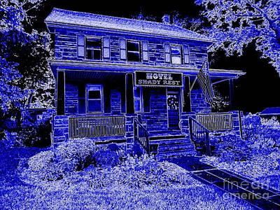 Digital Art - Shady Rest Hotel by Ed Weidman