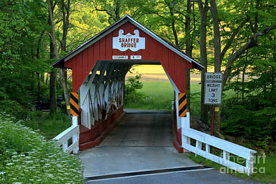Photograph - Shaffer Bridge In Somerset County by Adam Jewell
