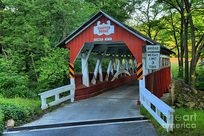 Photograph - Shaffer Covered Bridge by Adam Jewell