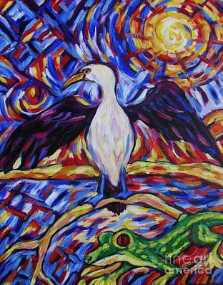 Painting - Shag And Gecko by Dianne  Connolly