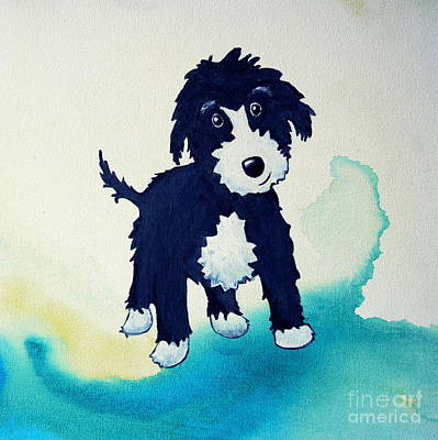Painting - Shaggy Dog by Shiela Gosselin