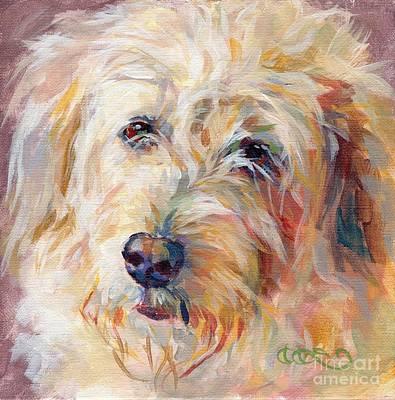 Pastel Pet Portrait Painting - Shaggy Schatzi by Kimberly Santini