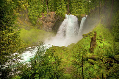 Photograph - Shahalle Falls Oregon by Connie Cooper-Edwards
