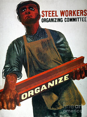Photograph - Shahn: Steel Union Poster by Granger
