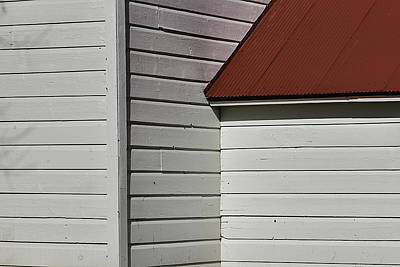 Red Roof Photograph - Shaker Building Detail by Garry Gay