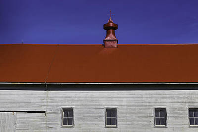 Red Roof Photograph - Shaker Building by Garry Gay