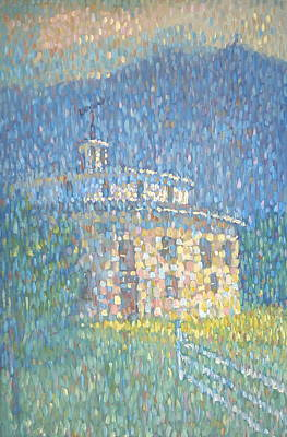 Painting - Shaker Round Barn by Len Stomski