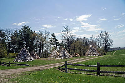 Photograph - Shaker Teepees? by Judy Johnson