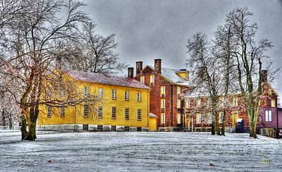 Photograph - Shaker Winter 2 by Sam Davis Johnson