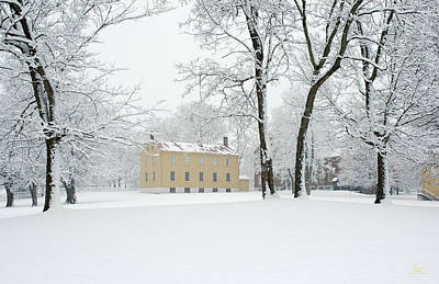 Photograph - Shaker Winter by Sam Davis Johnson