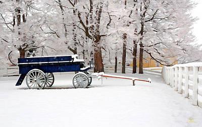 Photograph - Shaker Winter Wagon by Sam Davis Johnson