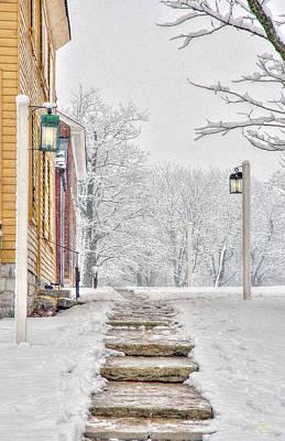 Photograph - Shaker Winter Walk 1 by Sam Davis Johnson