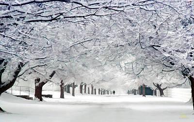 Photograph - Shaker Winter Walkway by Sam Davis Johnson