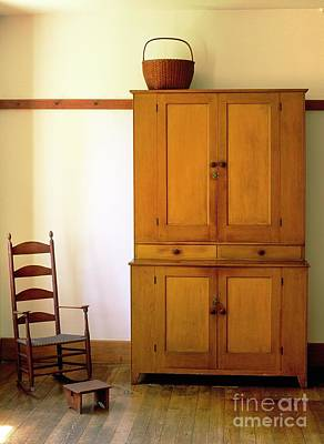 Hancock Village Photograph - Shaker Wooden Furniture In The Hancock Shaker Village. Pittsfield, Massachusetts, Usa by David Lyons